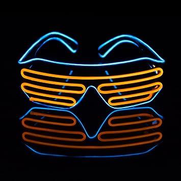 LED leuchten Kostüme Brille, JIAMA 2 Farben EL Draht Mode Neon ...