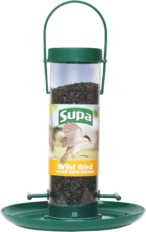Wild Garden Bird Niger Seed Feeder Feeding Stations 2 Port Perch FREE NIGER SEED