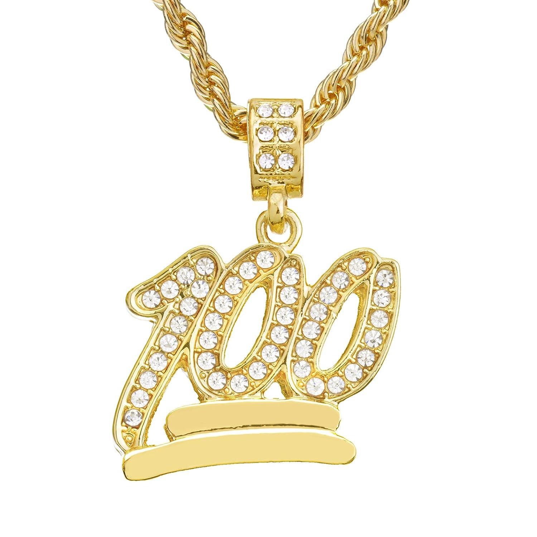 59cf773ffc4c8 Mens Hip Hop Iced Out Mini Emoji 100 Pendant 24