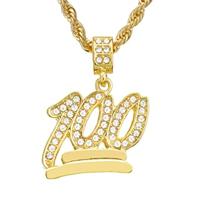 Mens hip hop iced out mini emoji 100 pendant 24 rope chain necklace mens hip hop iced out mini emoji 100 pendant 24quot rope chain necklace aloadofball Image collections