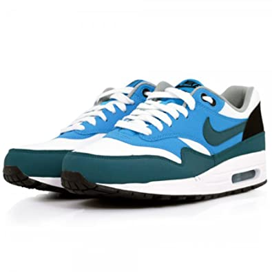 best sneakers ee2d4 69c98 Nike Mens Air Max 1 Essential White Night Factor Vivid Blue Trainer Size 11  UK