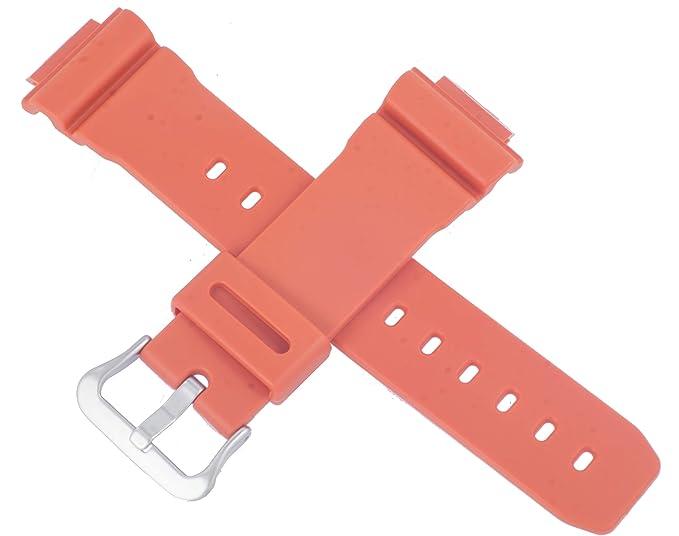 Casio 10512608 - Correa de Reloj para DW-5600M-4 DW 5600M 5600, Color Naranja: Amazon.es: Relojes