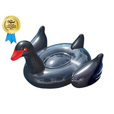 Swimline Giant Black Swan Pool Float: Toys & Games