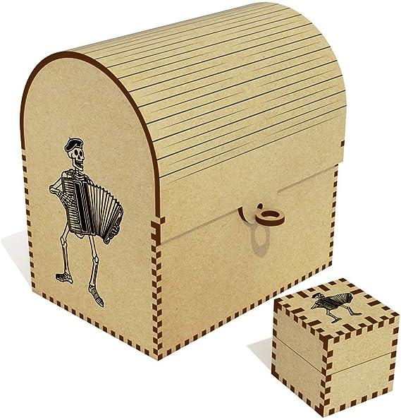 Esqueleto con acordeón de cofre del tesoro/caja de joyería (tc00001895): Amazon.es: Juguetes y juegos