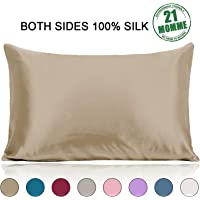 Ravmix Both Sides Mulberry Silk Pillowcase for Hair with Hidden Zipper, 1pcs