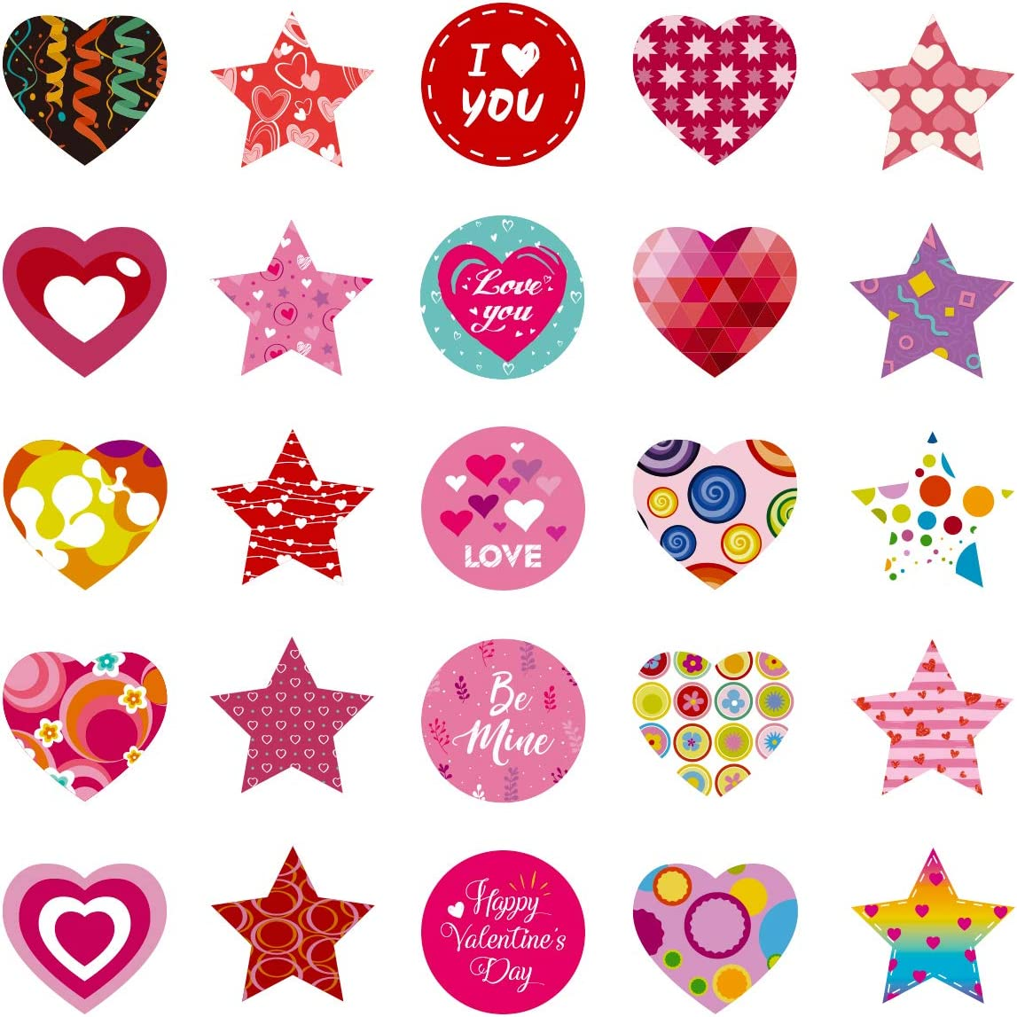 Party Favors Gifts Decorations Supplies,Wedding Party Accessories DmHirmg Valentines Day Stickers,Valentines Heart Roll Stickers Labels for Valentines Day Decoration