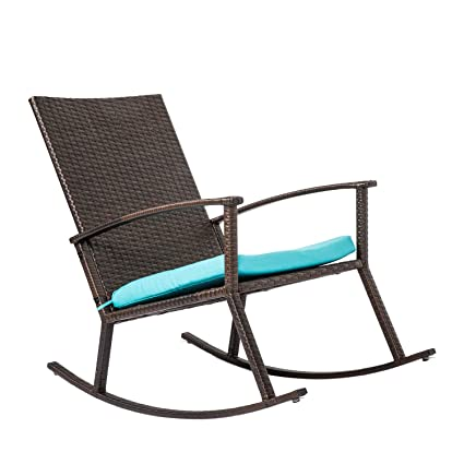 Superb Amazon Com Taltintoo20 Rattan Wicker Rocking Chair Forskolin Free Trial Chair Design Images Forskolin Free Trialorg
