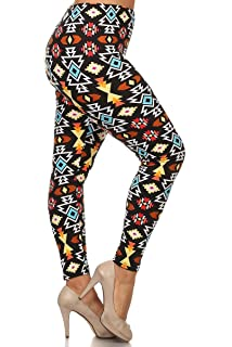 34d0c5358e594 LA12ST Women's Plus Size Tights Spandex Spring Aztec Navajo Printed Leggings