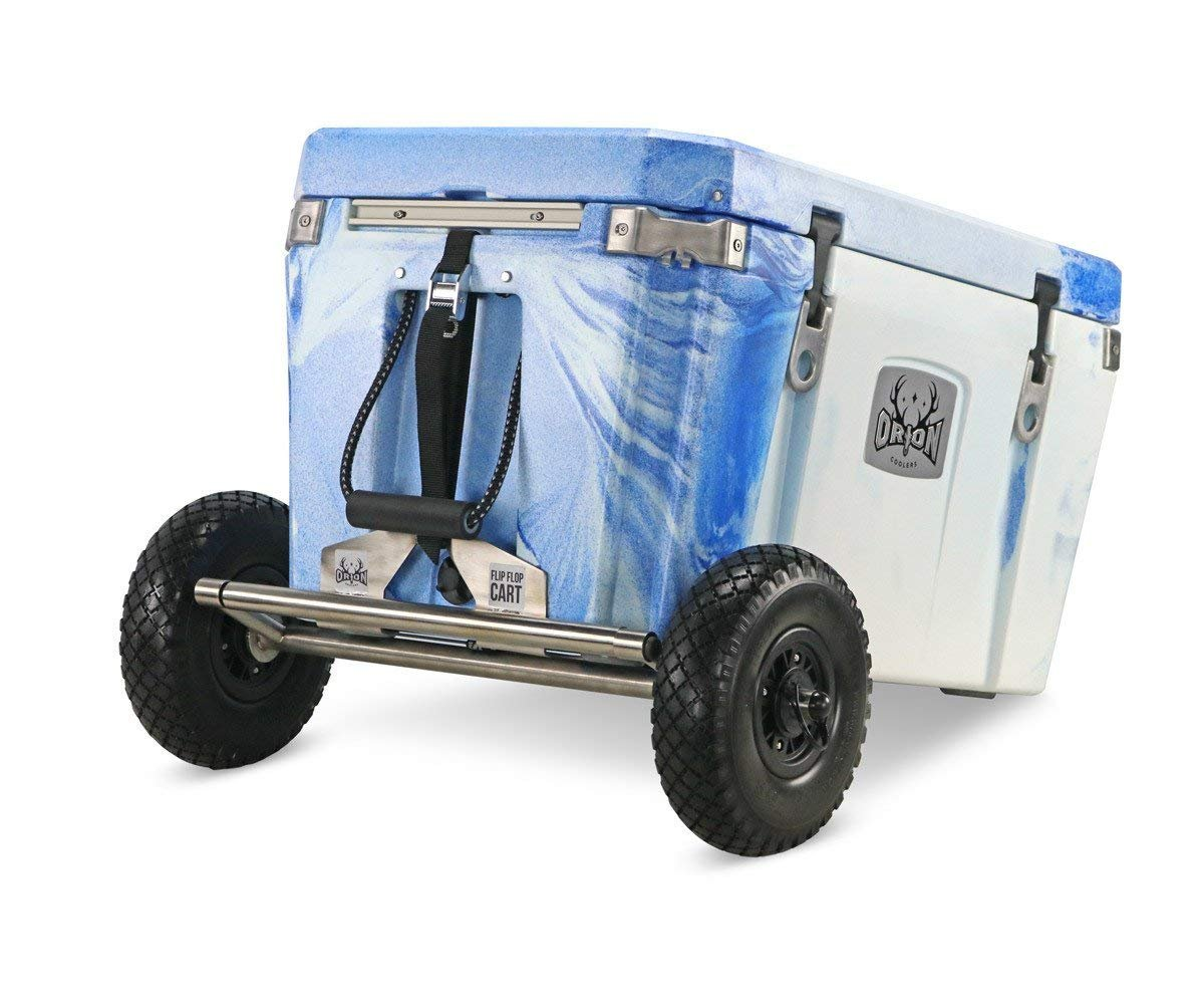ORION Flip-Flop Cart Cooler Accessory - Removable Wheel/Axle Kit for Heavy Duty Camping Cooler - Accommodates Coolers (35, 55, 65, and 85) by ORION