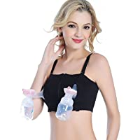DORSION Maternidad manos libres Breastpump enfermería sujetador suave lactancia materna Bras (Negro)