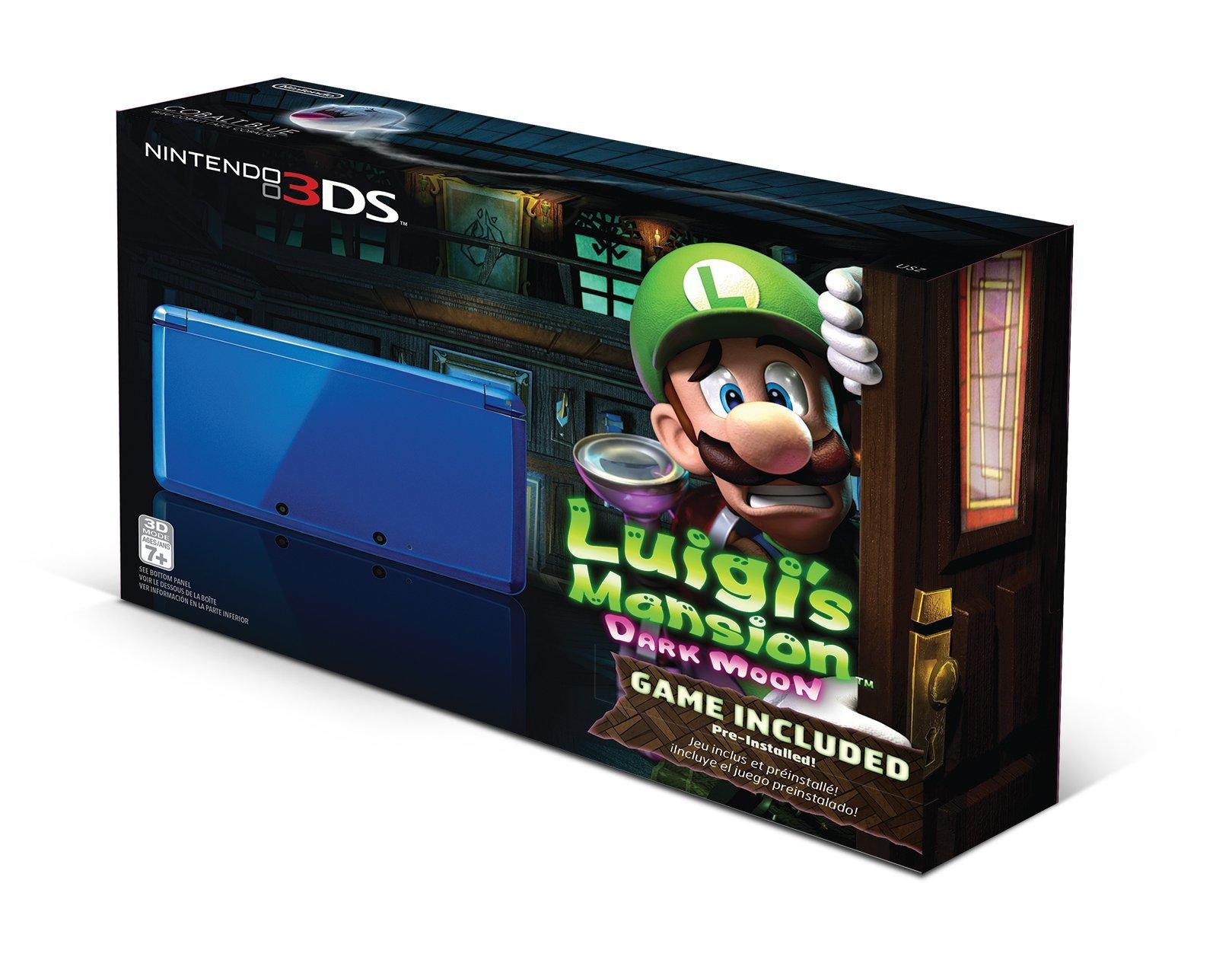 Nintendo 3DS Cobalt Blue with Luigi's Mansion: Dark Moon by Nintendo