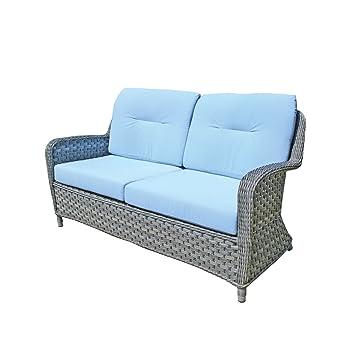 Oxford avec coussins de canapé Sky Blue Coussin pour fauteuil de ...