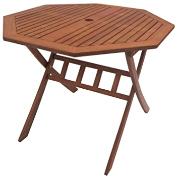 Tisch 8 Eckig.Amazon De Gartentisch Garten Tisch Gartenmöbel Holz 100 Cm