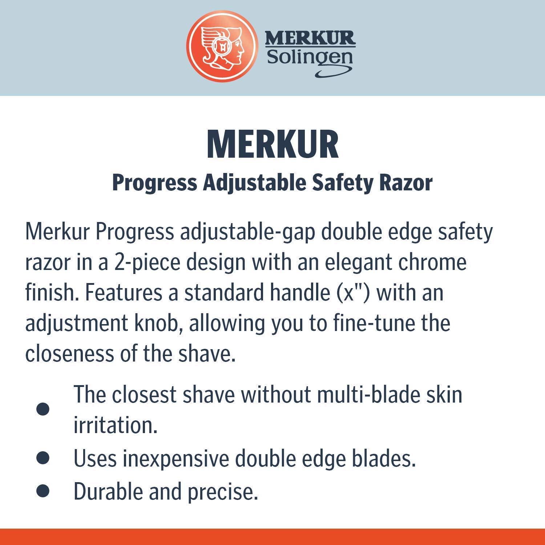 /& 10 lamette impugnatura corta Merkur Im Set rasoio di sicurezza 42/C