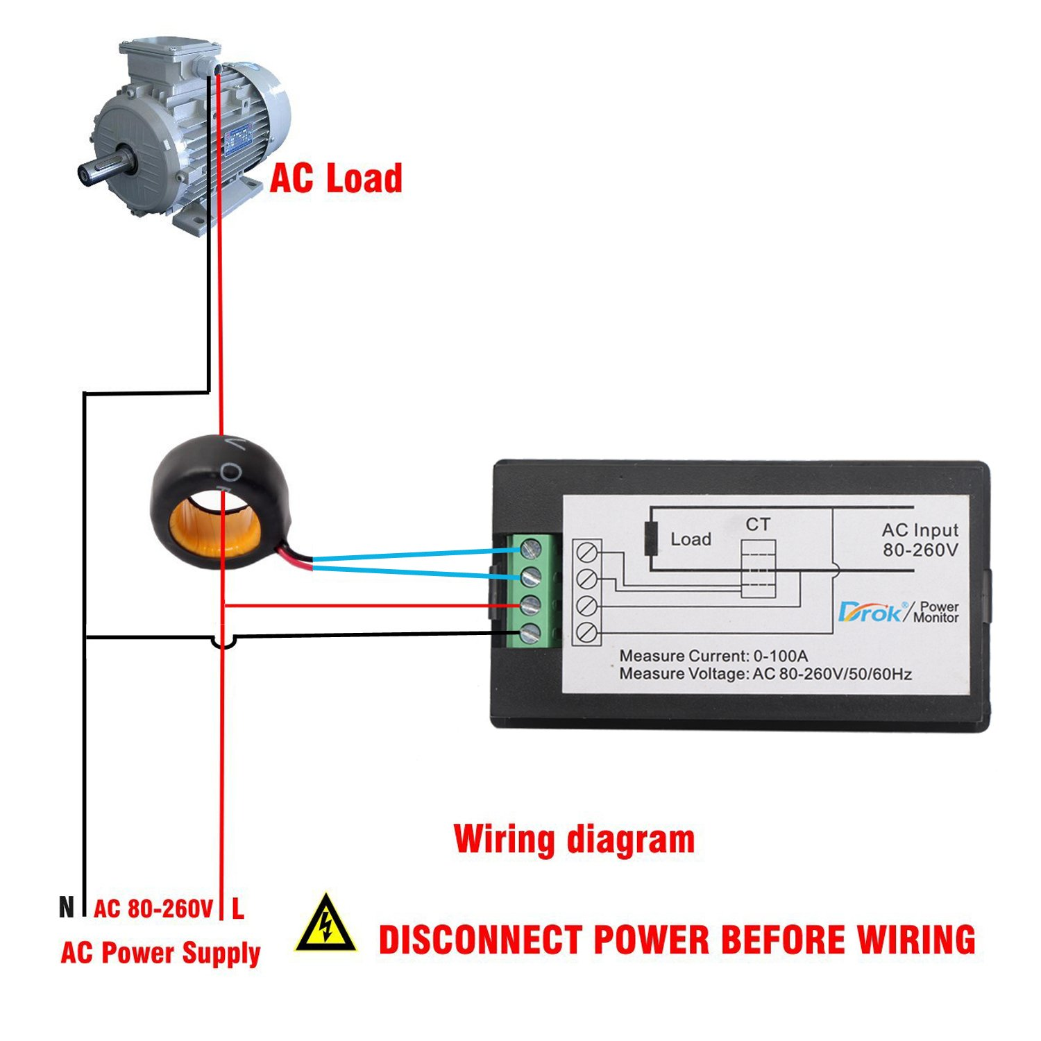 Ac Amp Meter Wiring Diagram Books Of Tach Digital 32