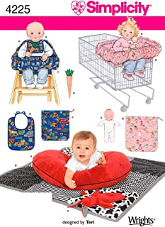 product image for Simplicity 4225 Baby Accessory Sewing Pattern for Baby Boy and Girl by Teri, One size