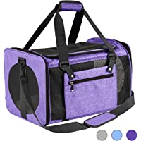 Vailge Cat Carrier Airline Approved, Dog Carrier Soft Sided, Pet Carrier for Small Medium Cats Dogs Puppies, Purple