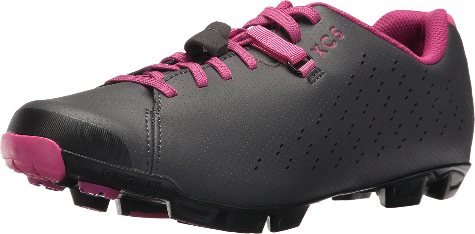 SHIMANO SH-XC5 Mountain Bike Shoe - Women's Grey/Magenta; 38 by SHIMANO