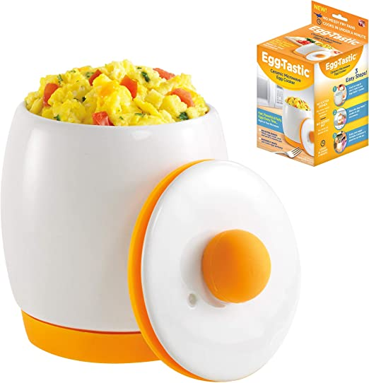 Egg Tastic Ceramic Microwave Egg Cooker And Poacher For Fast Fluffy Flavorful Eggs