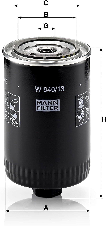 Mann Filter Original Ölfilter W 940 13 Für Pkw Auto