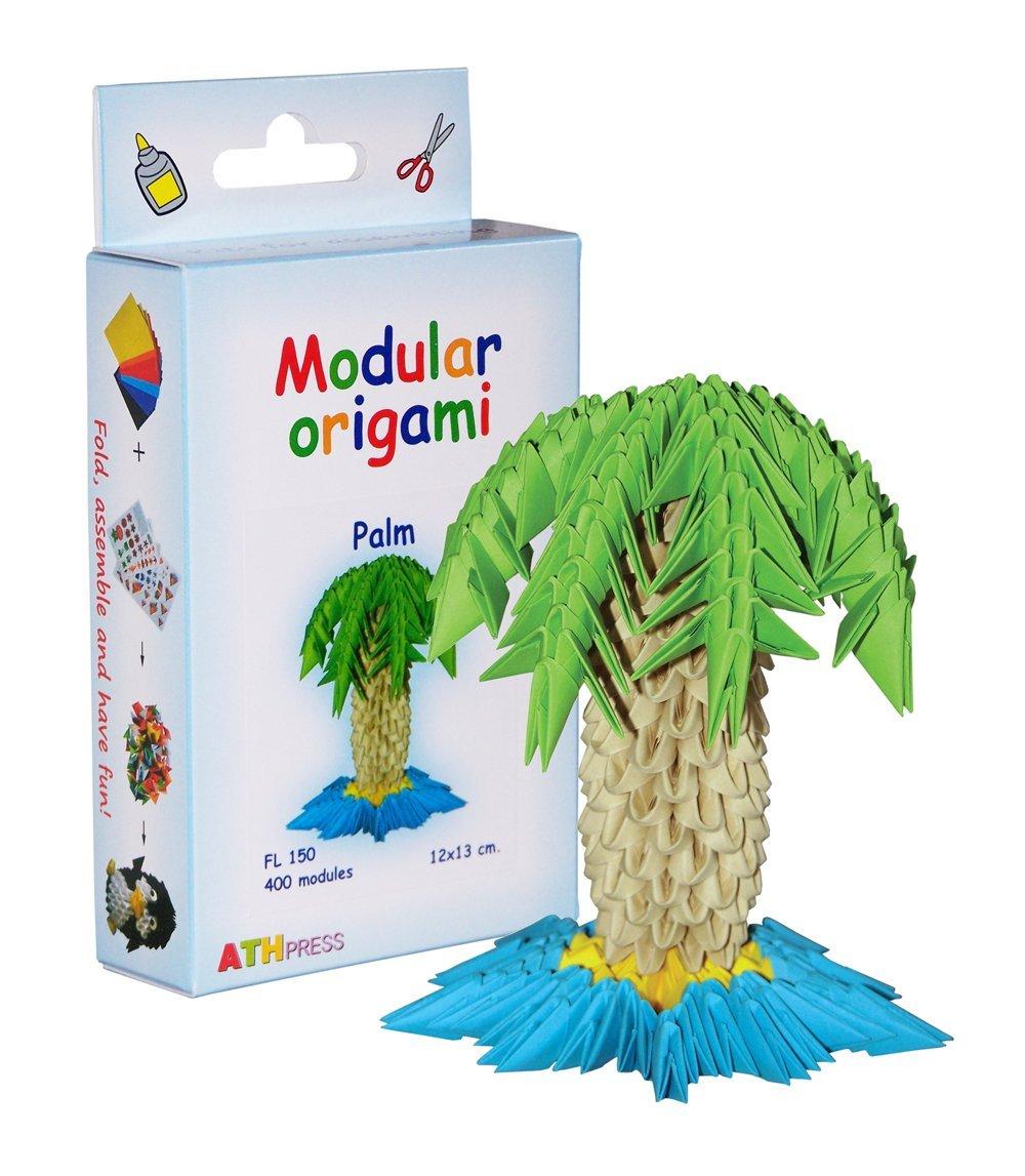 400-teiliges Modul-Origami, Kleines Papierpalmenset, Mehrfarbig Modular Origami FL150