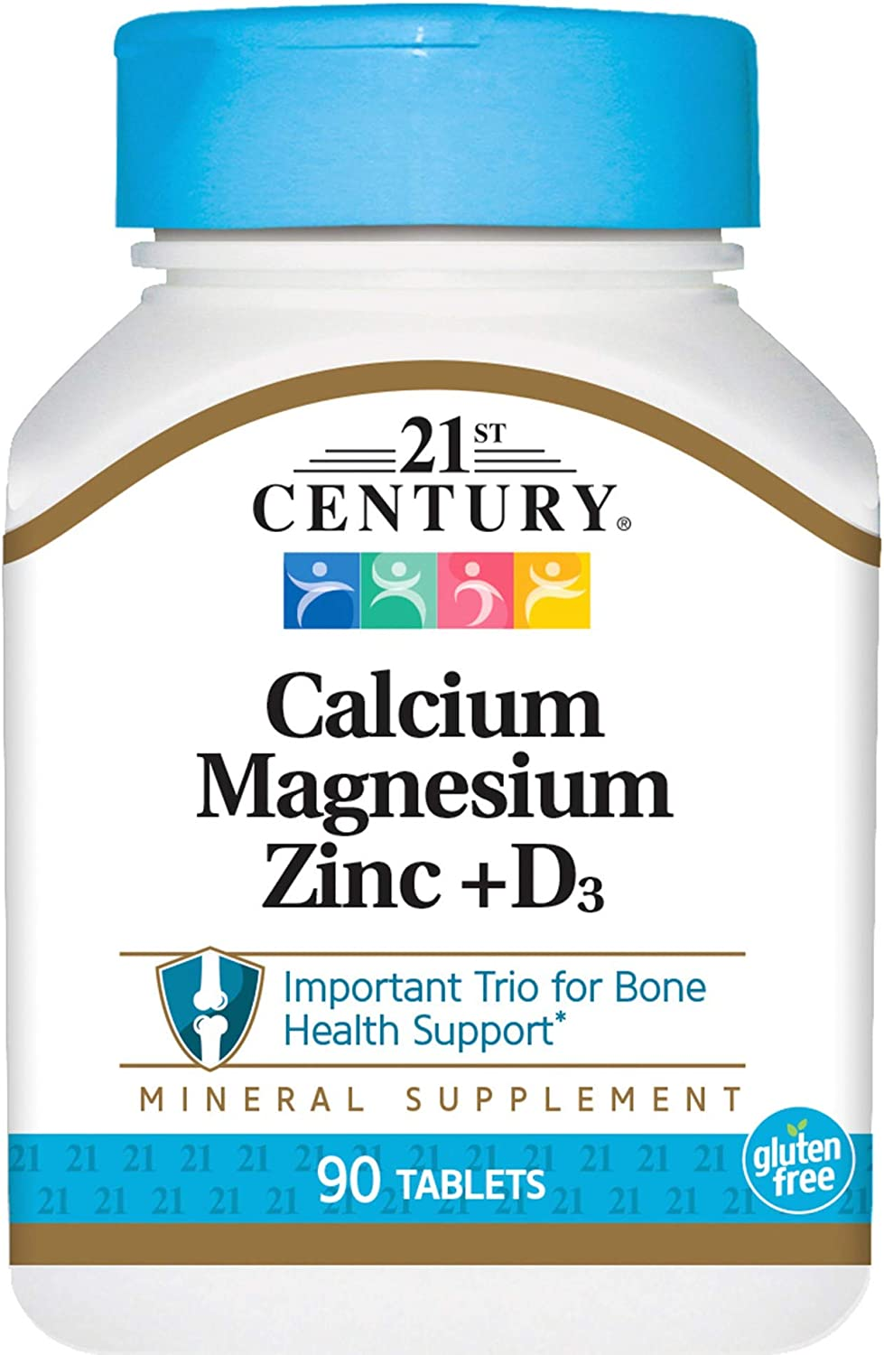 21st Century Health Care, Cal Mag Zinc + D3, 90 Tabletas: Amazon ...