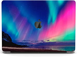 Wonder Wild Case Compatible with MacBook Air 13 inch Pro 15 2019 2018 Retina 12 11 Apple Hard Mac Protective Cover 2017 16 2020 Plastic Laptop Print Northern Lights Night Sky Aurora Colorful Purple