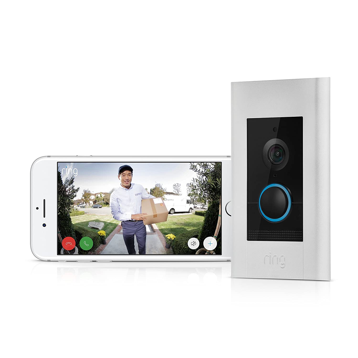 Ring Video Doorbell Elite Amazon Devices Cat5 Wiring Diagram Faceplate