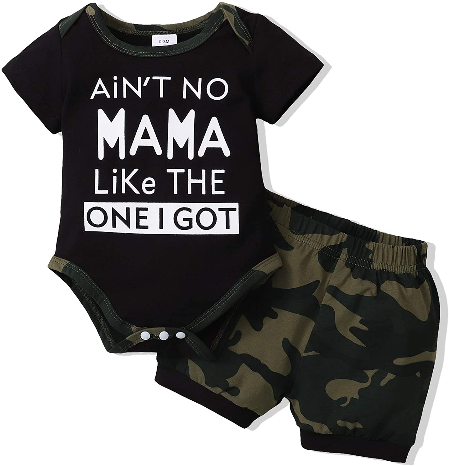 NZRVAWS Infant Baby Boy Clothes Newborn Boy Outfits Short Sleeve Romper Bodysuit+Shorts Pants Summer Baby Boy's Clothing