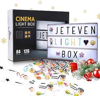 Jeteven Caja de Luz para Pascua Tamaño A4 Lightbox LED con Letras ...
