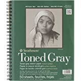 Strathmore STR-412-109 50 Sheet Toned Gray Sketch Pad, 9 by 12""