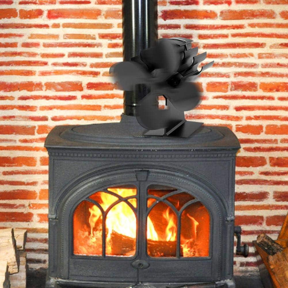 rcraftn Ventilador Pequeño Potencia Ventilador De Cuatro Hojas Leña Chimenea Ventilador Estufa De Aire Caliente Ventilador De Calefacción Expert