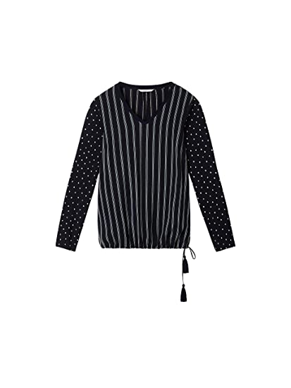 b00b02d06b4149 Sandwich Clothing Stripe   Spot Print Blouse  Amazon.co.uk  Clothing