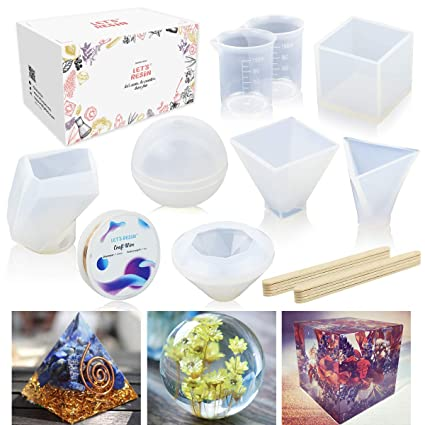 Amazon Com 6 Pack Resin Casting Molds Jofamy Large Clear Diy