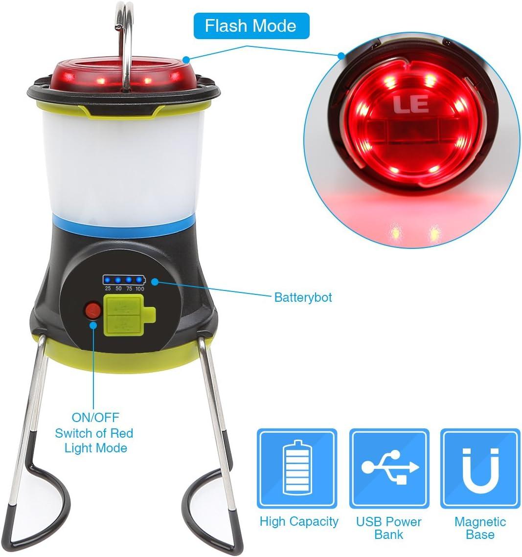 Regalo original Funci/ón Powerbank Cable USB incluido Luz de camping LE Farol LED Polivalente 3 Modos