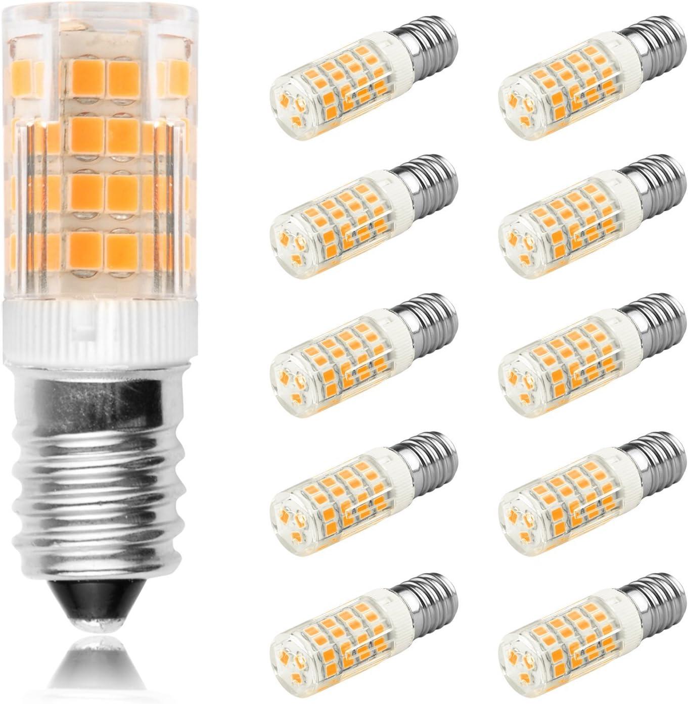 Ascher® 10er Pack E14 5W 51x2835 SMD LED Lampe (vgl. 30W Halogen) 350 Lumen E14 LED warmweiß AC 220V 240V LED Leuchtmittel 360°