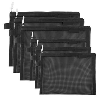 Tofinder Bolsas de cosméticos transparentes Bolsas de malla de maquillaje con cremallera Estuche para lápices Estuche de viaje Conjunto de estuches de ...