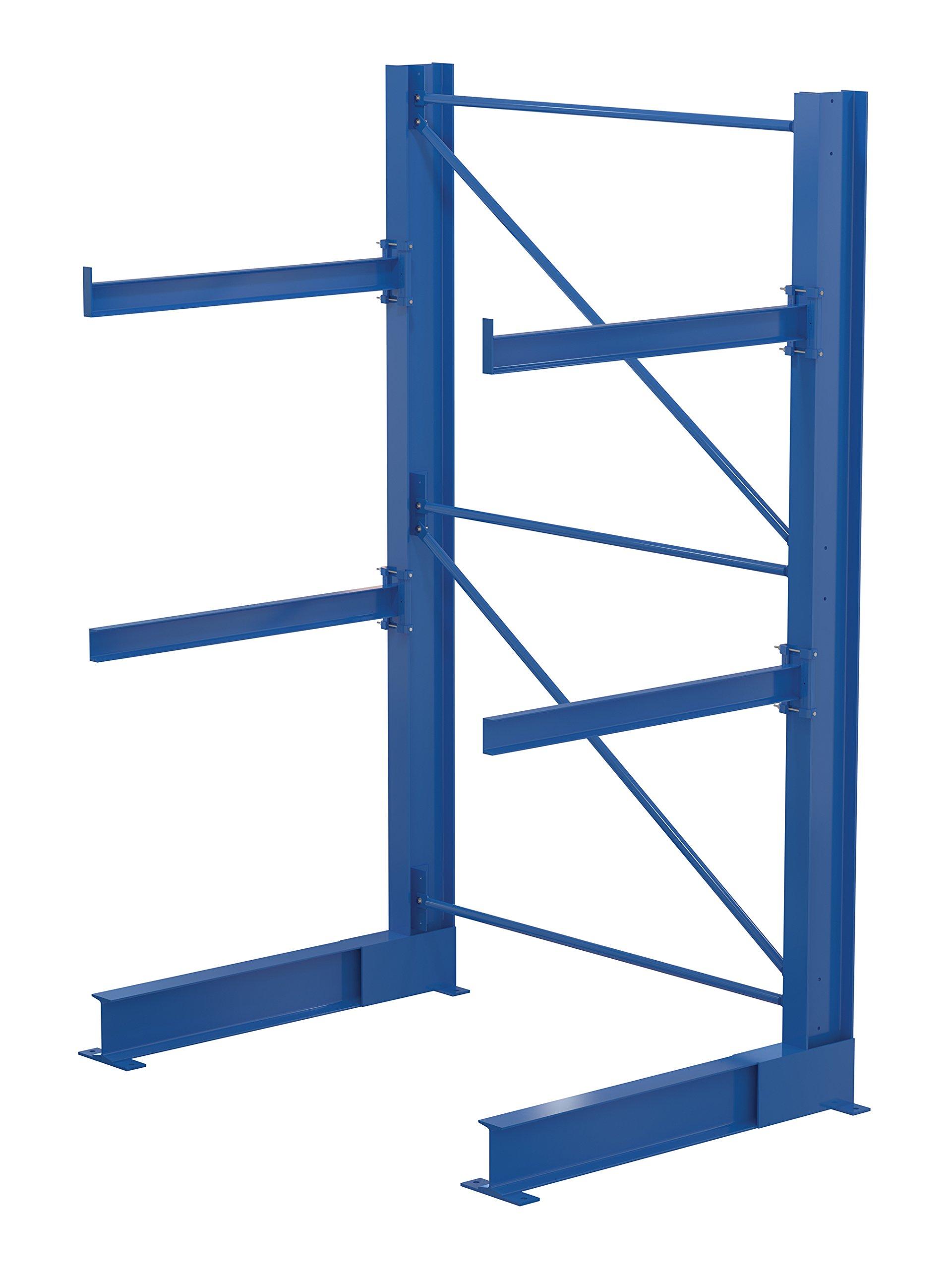Vestil SAC-1036 Single-Sided Racking, 12250 lb. Capacity, 120'' x 44'', Blue