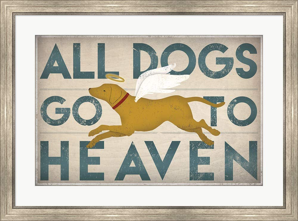 Amazoncom All Dogs Go To Heaven Iii By Ryan Fowler Framed Art