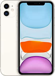 Apple iPhone 11 with Facetime - 128GB, 4G LTE, (2020 - Slim Packing) White - International Version