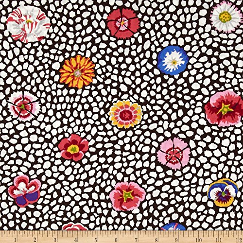 FreeSpirit Fabrics Kaffe Fasset Collective Guinea Flower White Fabric by The Yard,