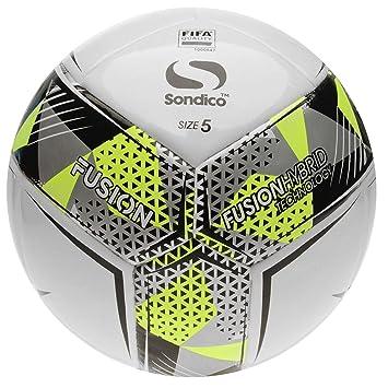 Official Sondico Fusion FIFA - Balón de fútbol, Size 5, Blanco ...