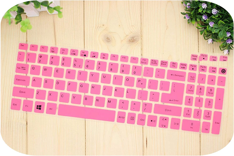 15.6 Inch Silicone Keyboard Cover Protector for Acer Aspire E15 E 15 E5 576 E5576 V3 V15 E5 553G/575G / Aspire 3 5 7 Series-Pink-
