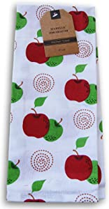 Mabelle Home Collections Spring and Summer Themed Kitchen Tea Towel - 15 x 25 Inches (Red Delicious & Granny Smith)
