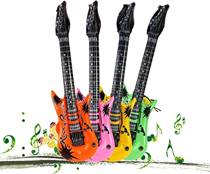 TOYMYTOY Guitarra hinchable Guitarra Inflable Para Fiesta Regalo ...