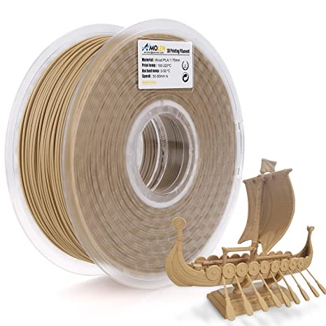 includes Sample UV Color Change to Hot Pink and GITD Blue Filament. Marble AMOLEN 3D Printer Filament Set Wood 4x225g Shining Gold Bronze PLA Filament 1.75mm +//- 0.03 mm