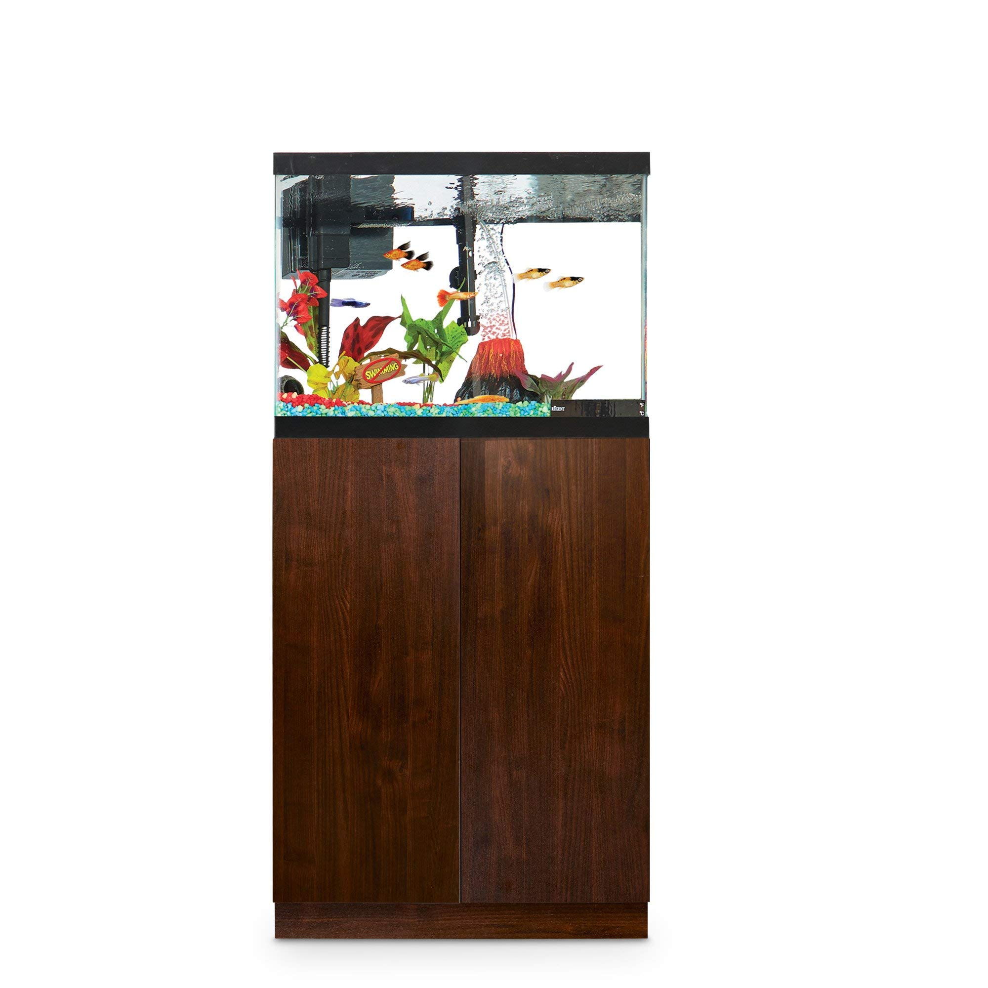 Imagitarium Faux Woodgrain Fish Tank Stand, Up to 20 Gal, 12.5 in, Natural Wood by Imagitarium