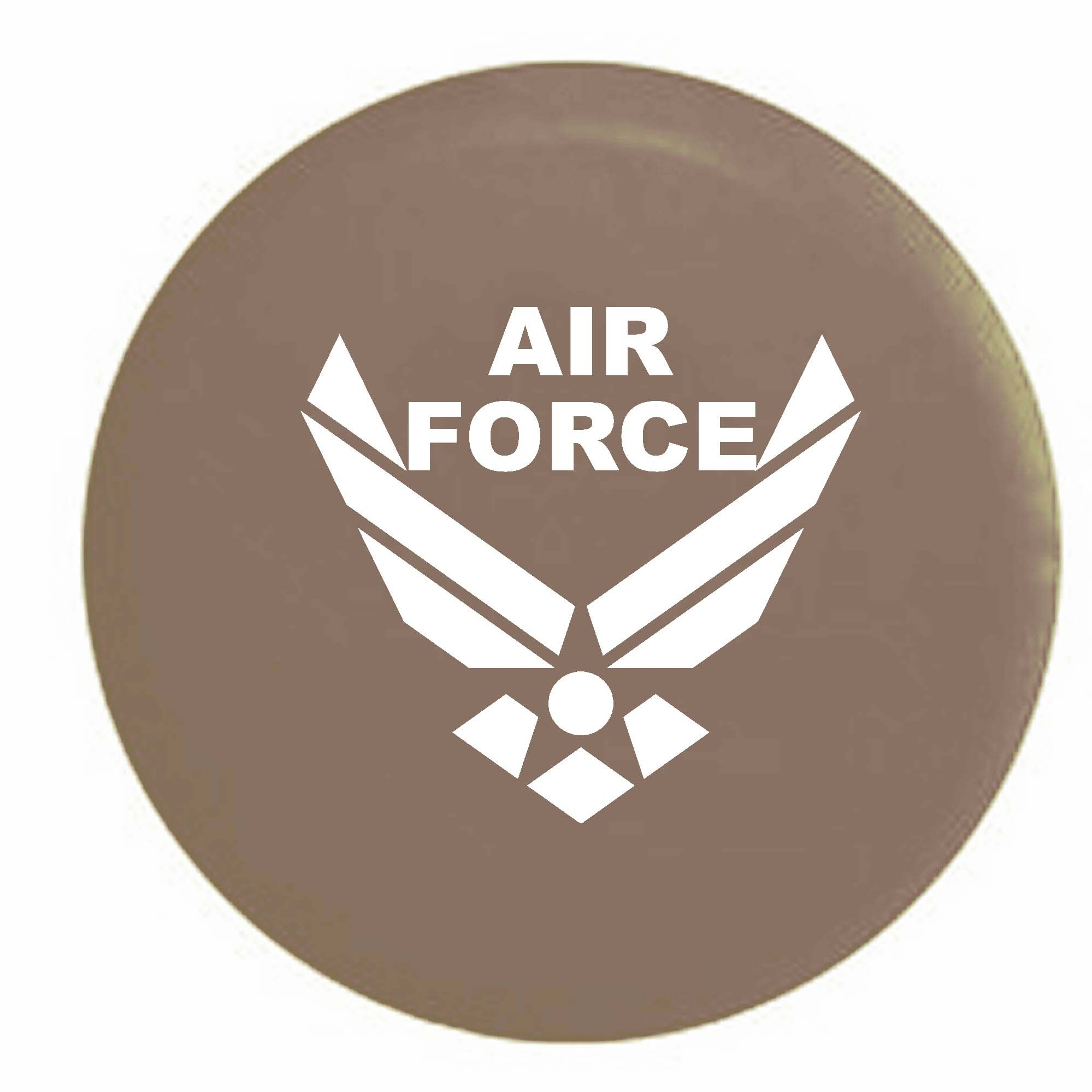Pike USAF Air Force Military Trailer RV Spare Tire Cover OEM Vinyl Tan 30 in by Pike Outdoors