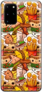 Lex Altern TPU Case Compatible with Samsung Galaxy S21 Note 20 Plus S20 Ultra S10 5G 9 Lightweight Flexible Protective Print Junk Food Slim Hot Dog Kawaii Eggs Fries Burger Silicone Cover phh516