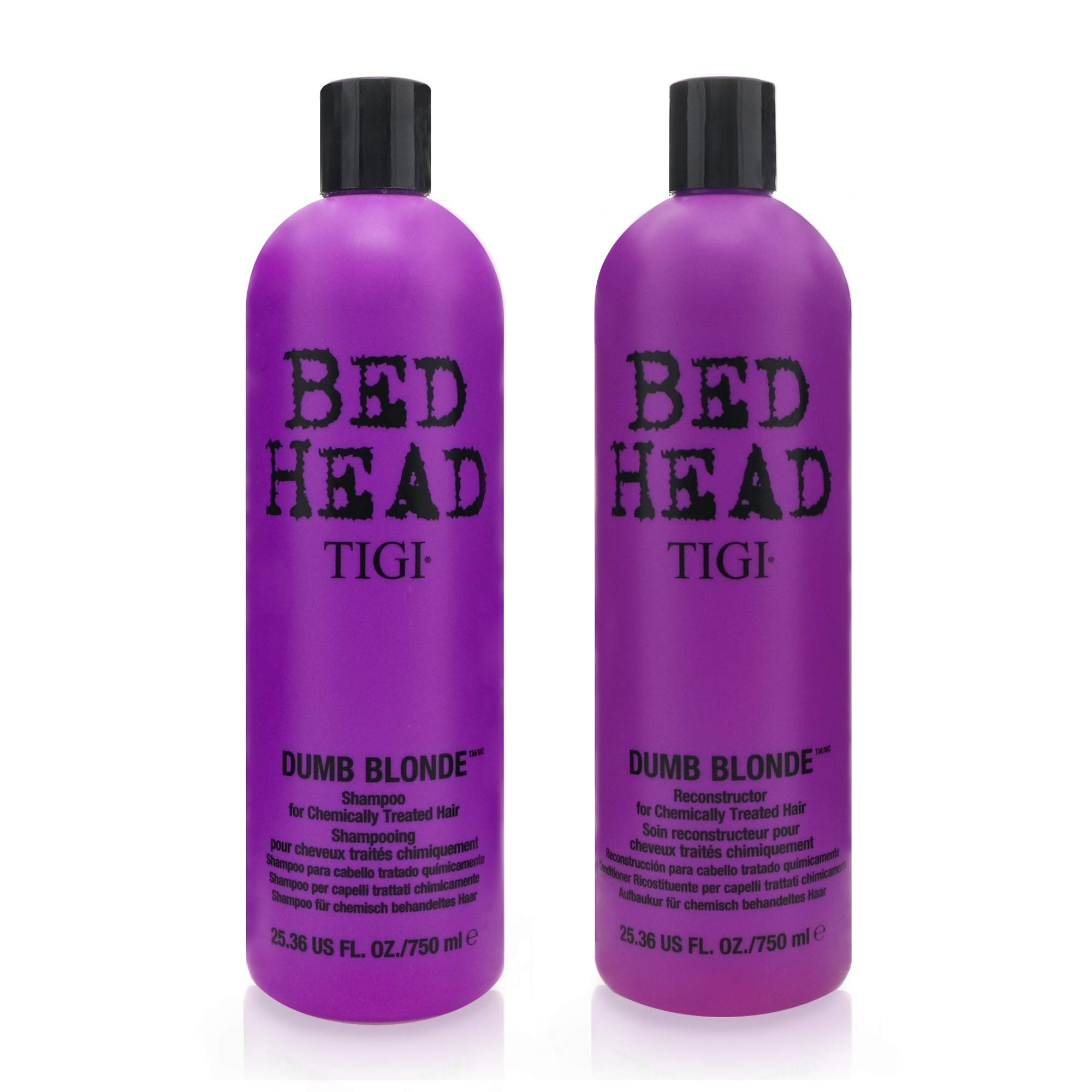 TIGI Bed Head Dumb Blonde Shampoo and Reconstructor Conditioner Duo - 25.36oz each by TIGI